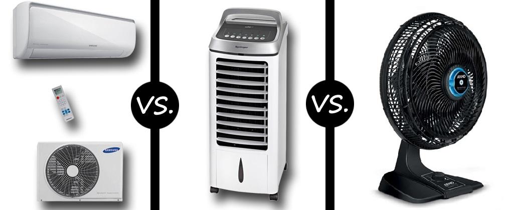 Eletrodoméstico de resfriamento. Saiba qual o melhor: ar condicionado, ventilador ou climatizador.