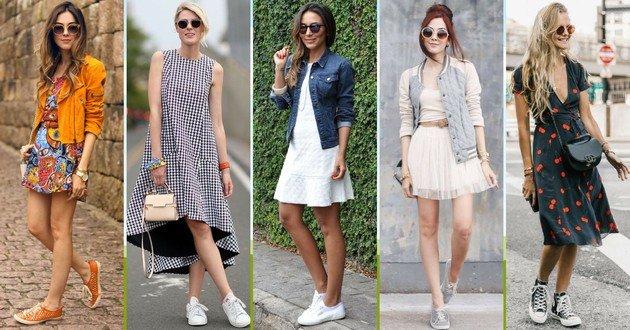 5 ideias de combinação de vestido com tênis